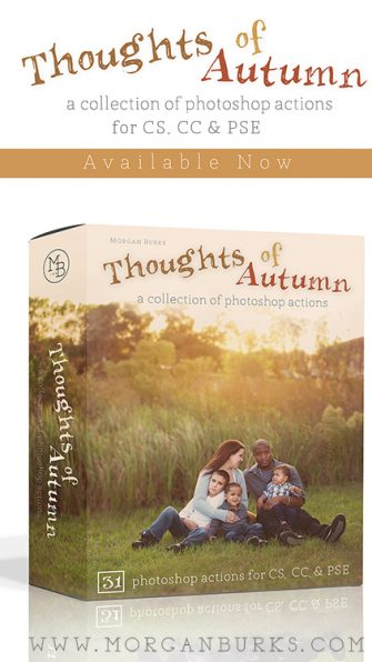 Add gorgeous Autumn color to your photos using the Thoughts of Autumn Photoshop Actions!