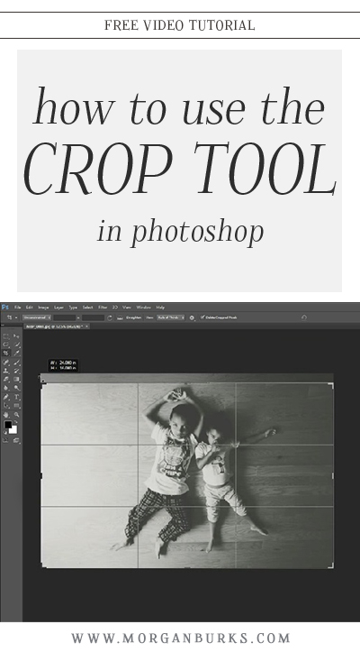 Learn how to use the crop tool in Photoshop with this free tutorial! | Find more photography tips and Photoshop tutorials at www.morganburks.com