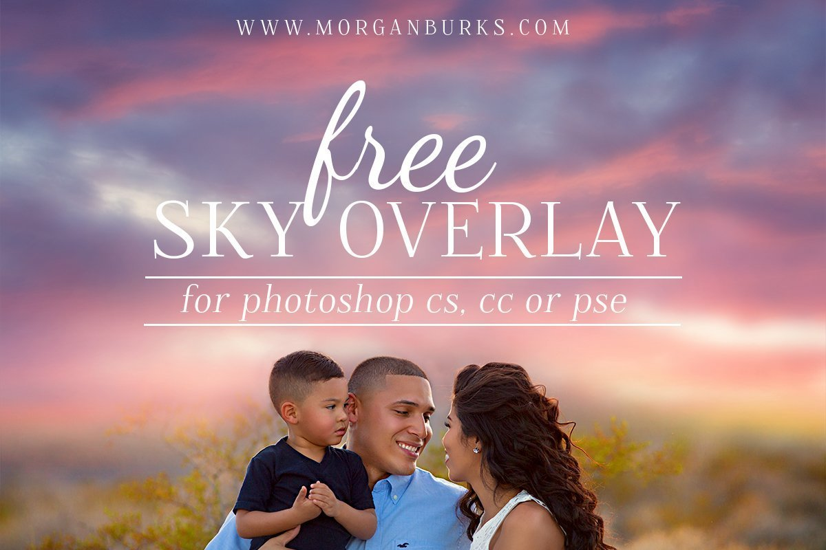 Photographers: Transform your images with this Free Sunset Sky Overlay! | Find more free editing products for photographers at www.morganburks.com