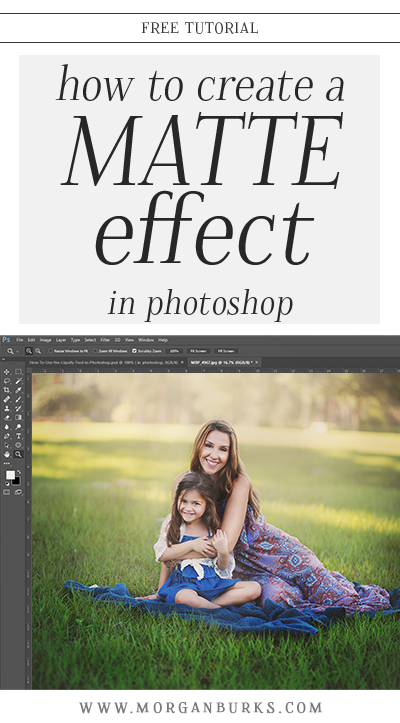Learn how to use Solid Color layers to create a Matte Effect in Photoshop with this free tutorial! | Find more free tutorials at www.morganburks.com