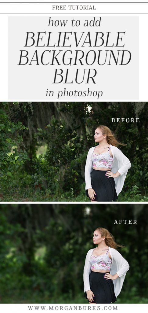 Learn how to add believable background blur in Photoshop with this free tutorial! | Find more free tutorials at www.morganburks.com