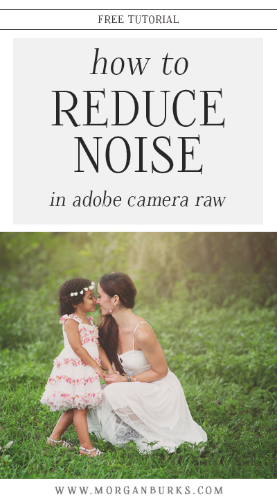 Working on a grainy/noisy photo? This tutorial will show you how to reduce noise in Adobe Camera RAW (Or Lightroom). | Find more free tutorials at www.morganburks.com