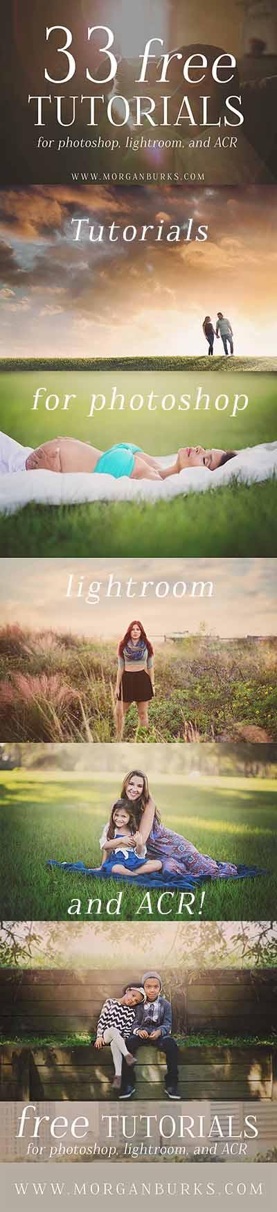 33 Free Tutorials For Photoshop Lightroom ACR