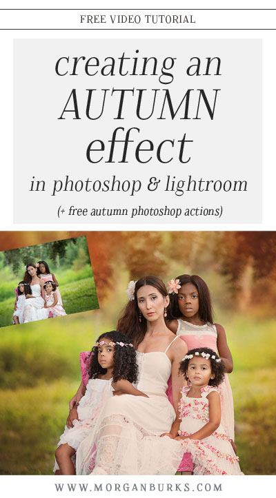 In this video tutorial, I'll show you how to create an Autumn Effect in Photoshop and Lightroom using the Thoughts of Autumn Photoshop Actions & the Colors of Autumn Lightroom Presets!
