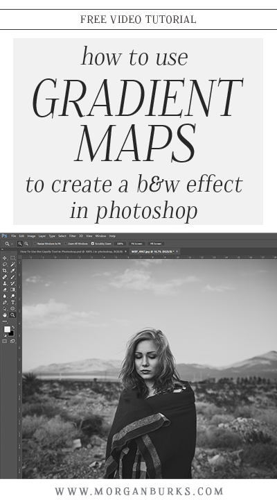 In this tutorial, I'll show you how to use Gradient Maps to convert an image to black and white! | Find more free tutorials at www.morganburks.com