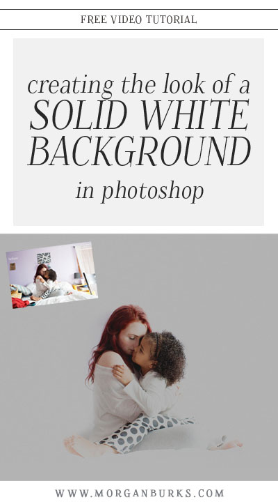 In this video tutorial, I'll show you how to eliminate surrounding distractions from a photo, creating the look of a solid white background in ACR and Photoshop!