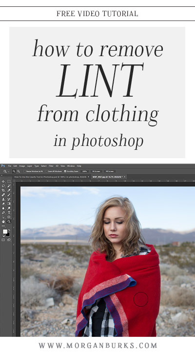 It seems like there's always at least one thing I overlook at a session and wind up having to fix in post. In this tutorial, I'll show you how to remove lint from clothing in Photoshop.