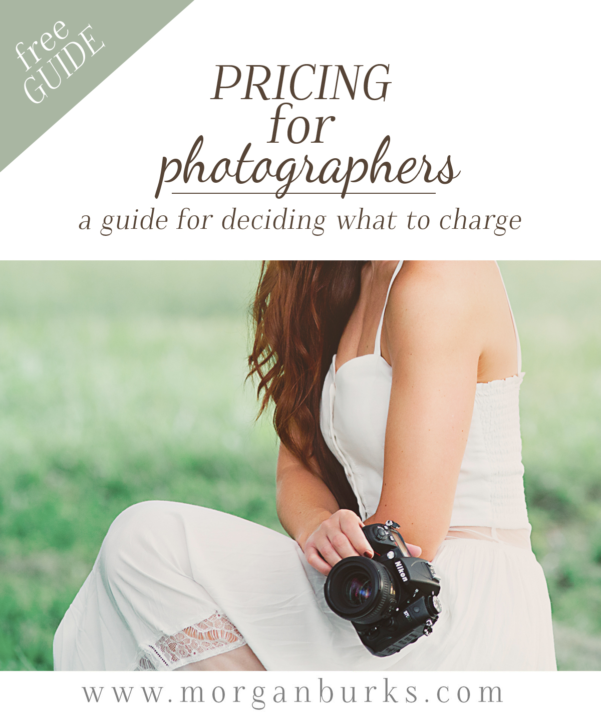 A free guide to help photographers consider all the factors that should go into deciding what to charge.