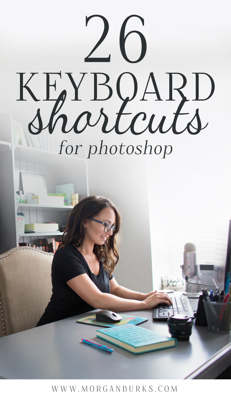 26 keyboard shortcuts to help you save time in Photoshop!