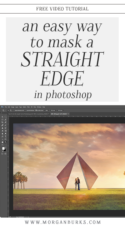 In this tutorial, I'll show you an easy way to mask a straight edge in Photoshop!