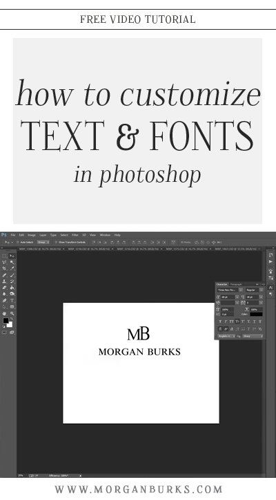 In this video tutorial, I'll show you how to customize text or fonts in Photoshop to make them feel more unique to you and your brand.