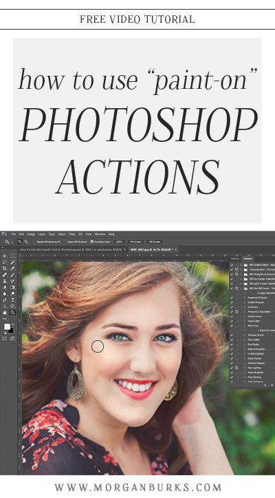 In this video, I'll show you how to use a brush to apply paint-on Photoshop Actions.