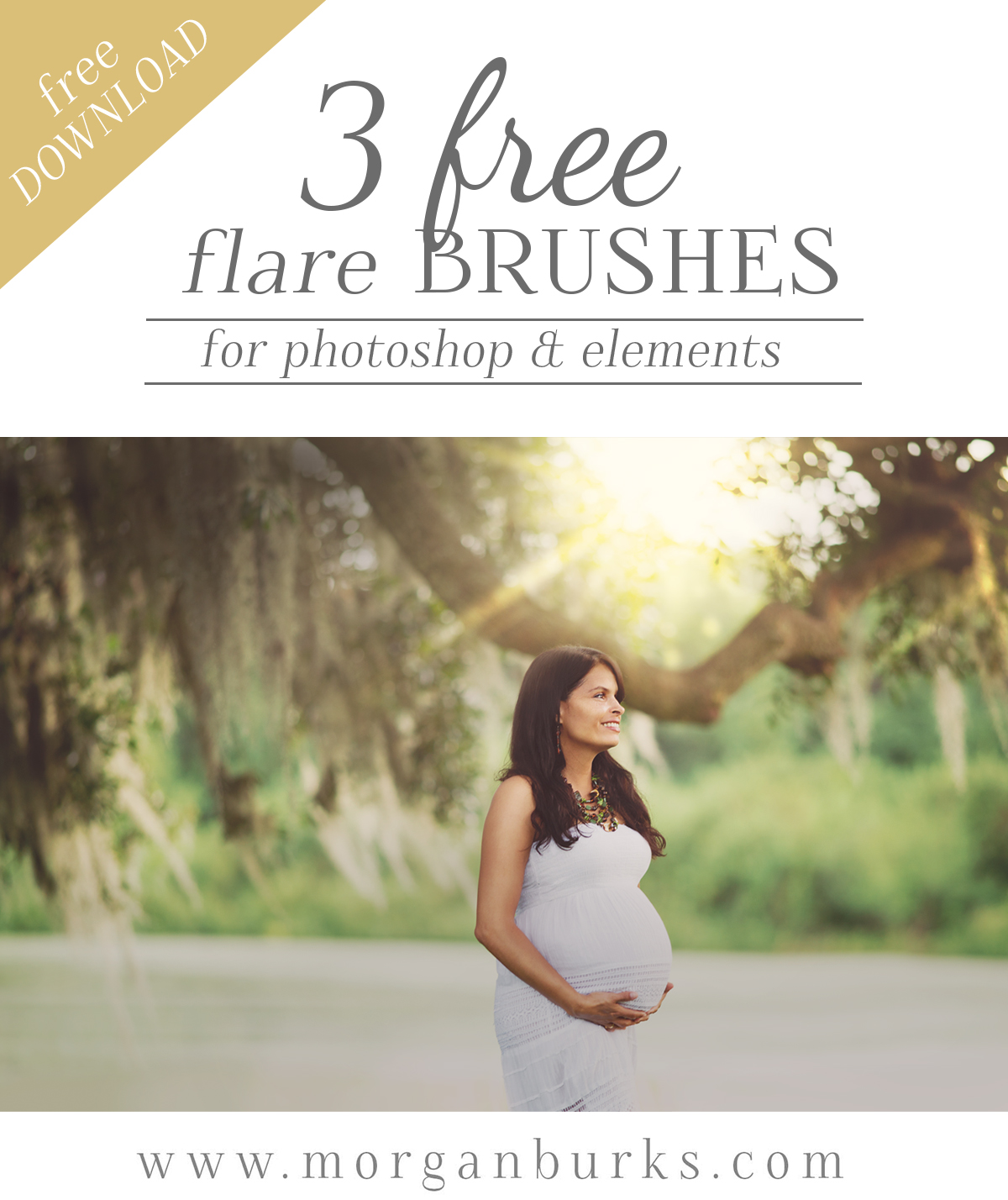 Free Flare Brushes for Photoshop and Elements! Stamp sun flare into your photos with just the quick click of a brush.