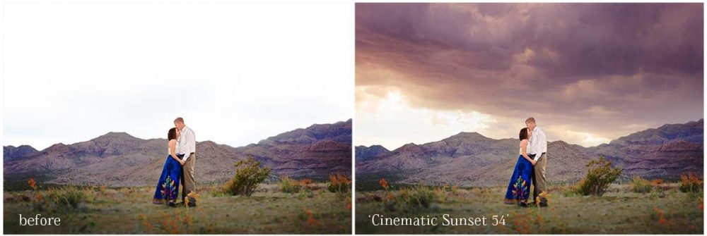 Transform boring skies and completely change the mood of your image with the Cinematic Sky Overlays for Photoshop.