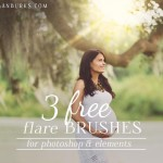 Download these free Flare Brushes and stamp beautiful light flare right onto your photos in Photoshop!
