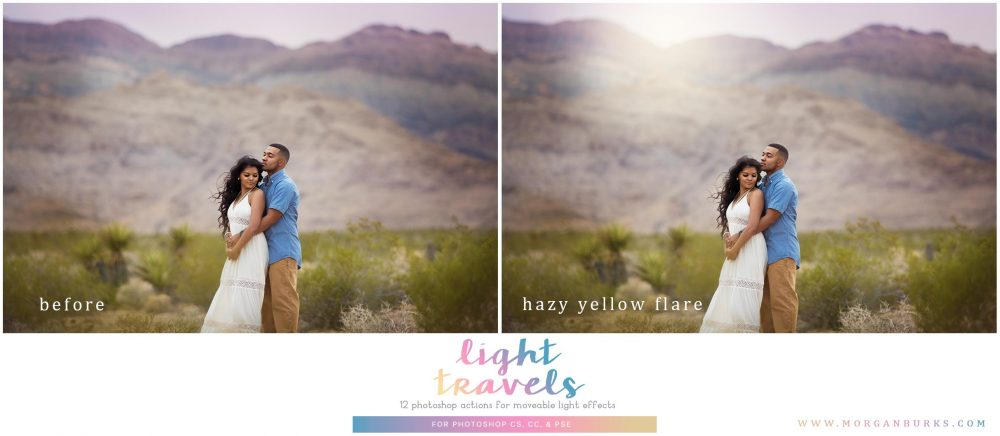 Instantly add gorgeous bursts of light to your photos that you can resize or move around with ease with the Light Travels Photoshop Actions!