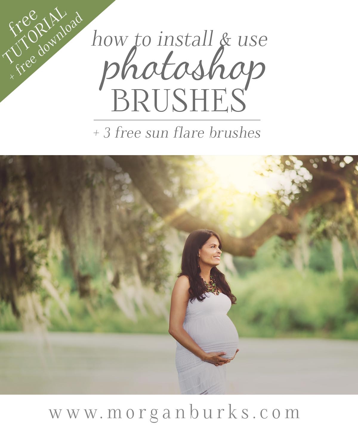 How to install and use Photoshop Brushes. Plus, download 3 free flare brushes to try out on your own photos!
