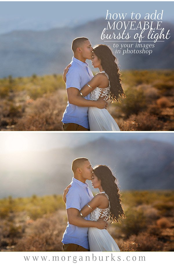 Learn how to add movable bursts of light in Photoshop using the Light Travels Photoshop Actions.   Find more photography tips and free tutorials at www.morganburks.com
