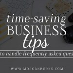 Business tips for Photographers - How to handle frequently asked questions.