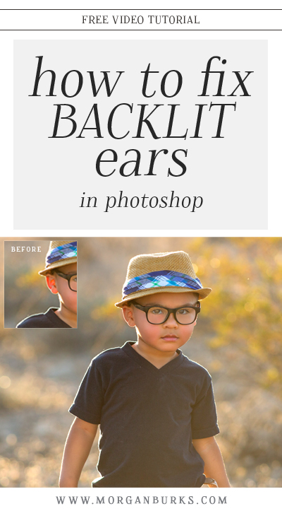 Backlighting is beautiful, but sometimes it's not so kind on a subject's ears. In this video, I'll show how to fix backlit ears in Photoshop!