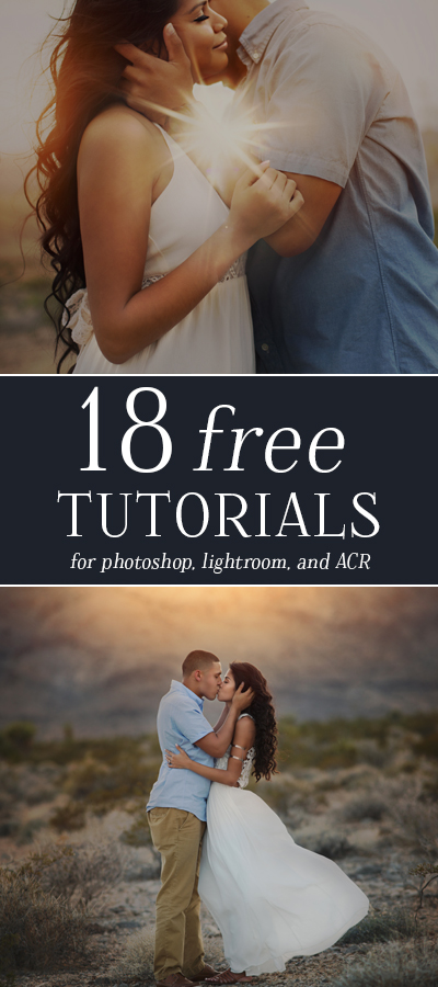 18 more Free Tutorials for Photographers! Includes free tutorials for Photoshop, Lightroom, and Adobe Camera RAW + one photography tutorial!