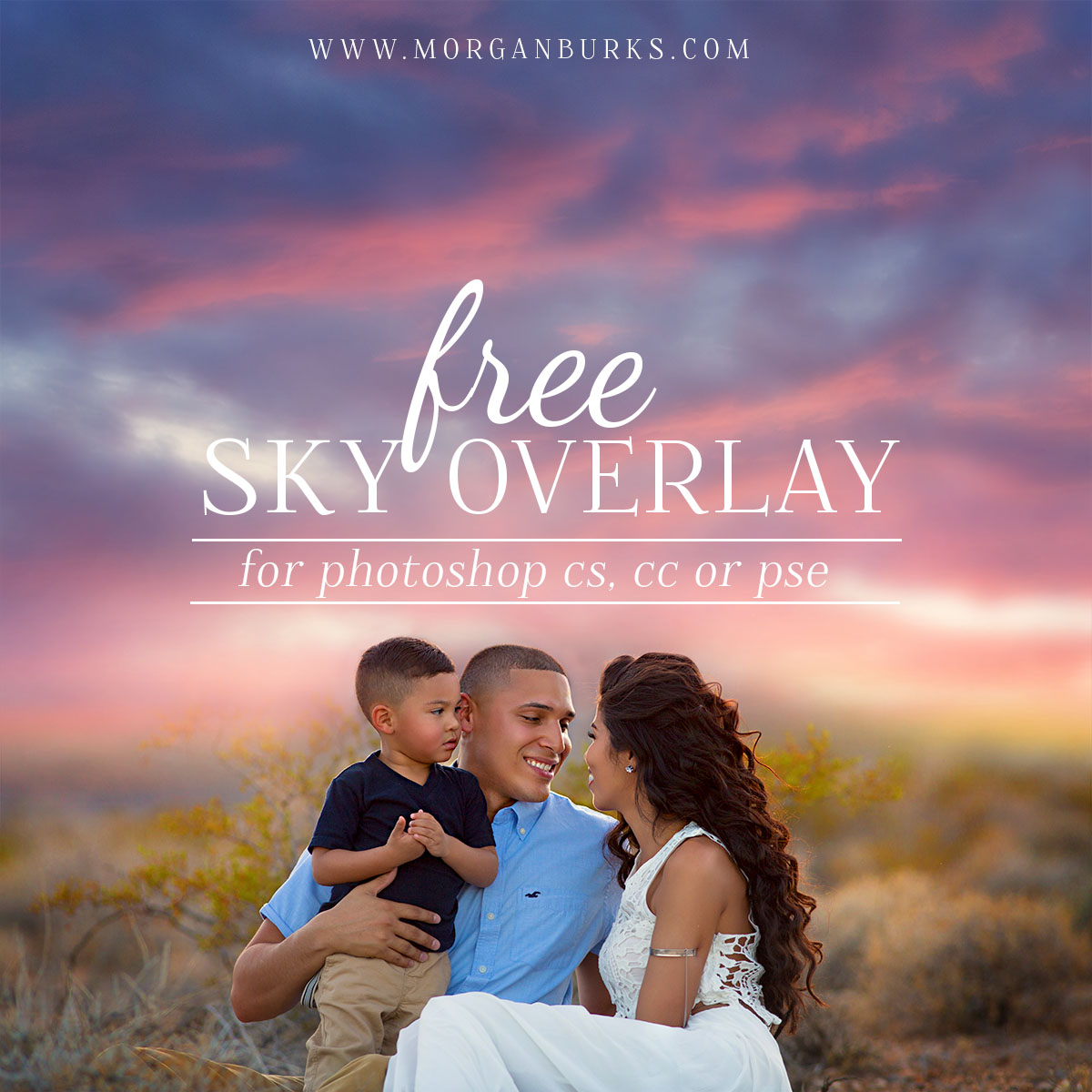 Free Sunset Sky Overlay For Photoshop and Elements – Morgan Burks