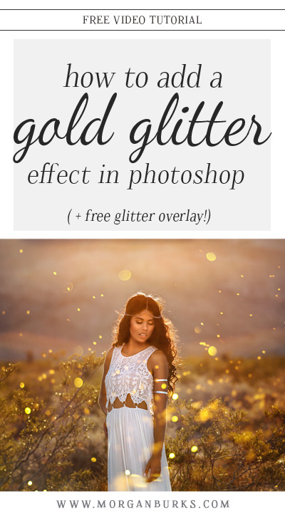In this tutorial, I'll show you how to apply a gold glitter effect to an image using the MB Glitter Overlays in Photoshop! (Download a free glitter overlay to try it out for yourself!)