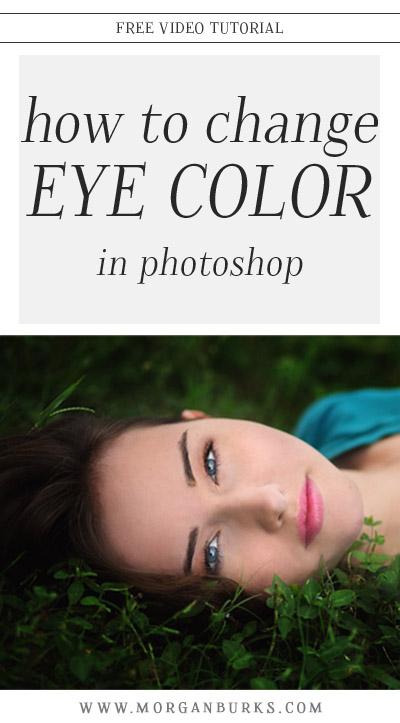 This video tutorial will show you how to change eye color in Photoshop!
