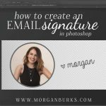 How to create an email signature image in Photoshop.
