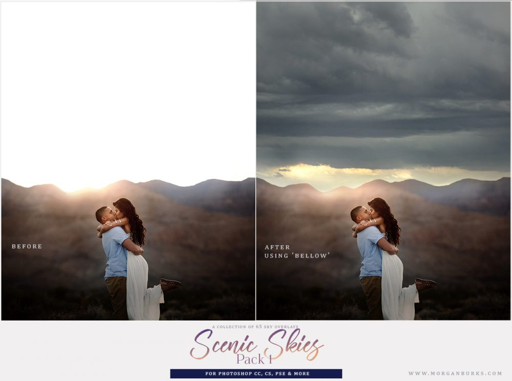 A collection of 65 gorgeous Sky Overlays for Photoshop CC, CC, PSE & more.