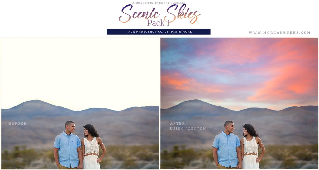 MB Scenic Skies Sky Overlays (Pack 1) - 65 gorgeous sky overlays to help you enhance your images.