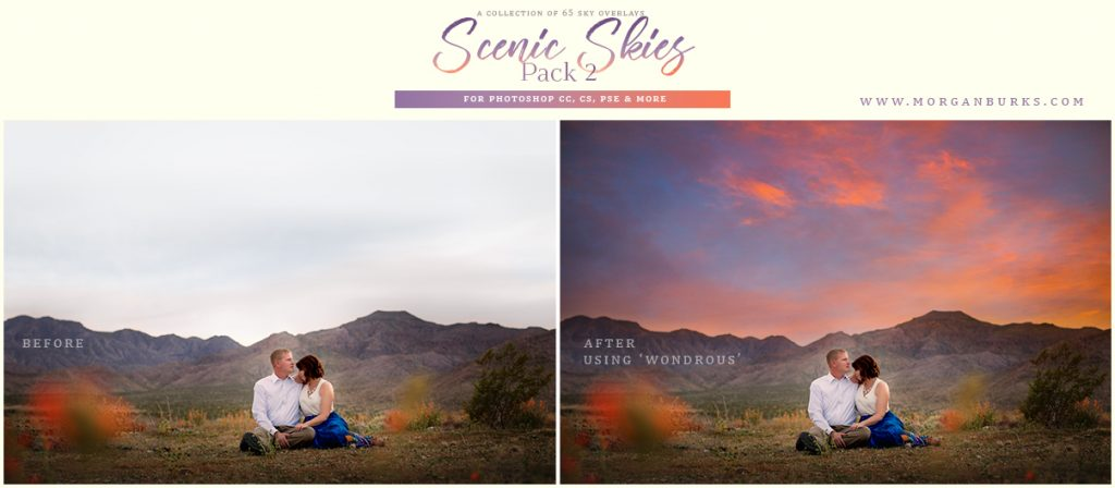 MB Scenic Skies Sky Overlays (Pack 2) - 65 gorgeous overlays to help you transform your images and enhance boring, blown out skies.