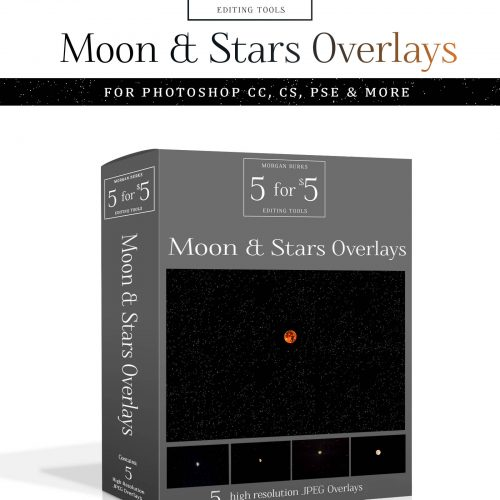 Moon and Stars Overlays for Photoshop & Elements - $5 Editing Products for Photographers. Easy to use and affordable!