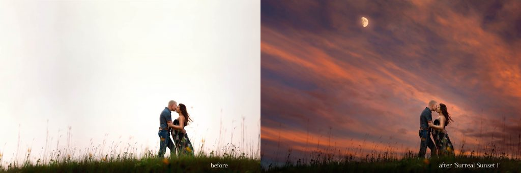 Surreal Sunset Skies- A set of 5 gorgeous sunset Sky Overlays to help you enhance plain, boring skies in your photos (for just $5).