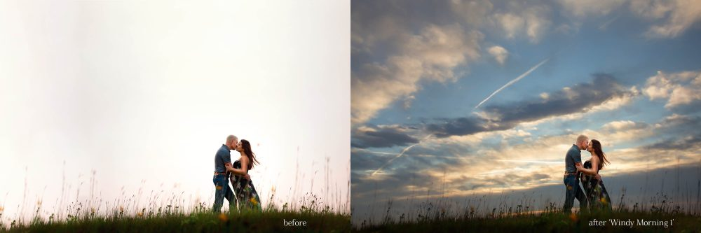 Windy Morning Sky Overlays for Photoshop & Elements - $5 Editing Products for Photographers. Easy to use and affordable!