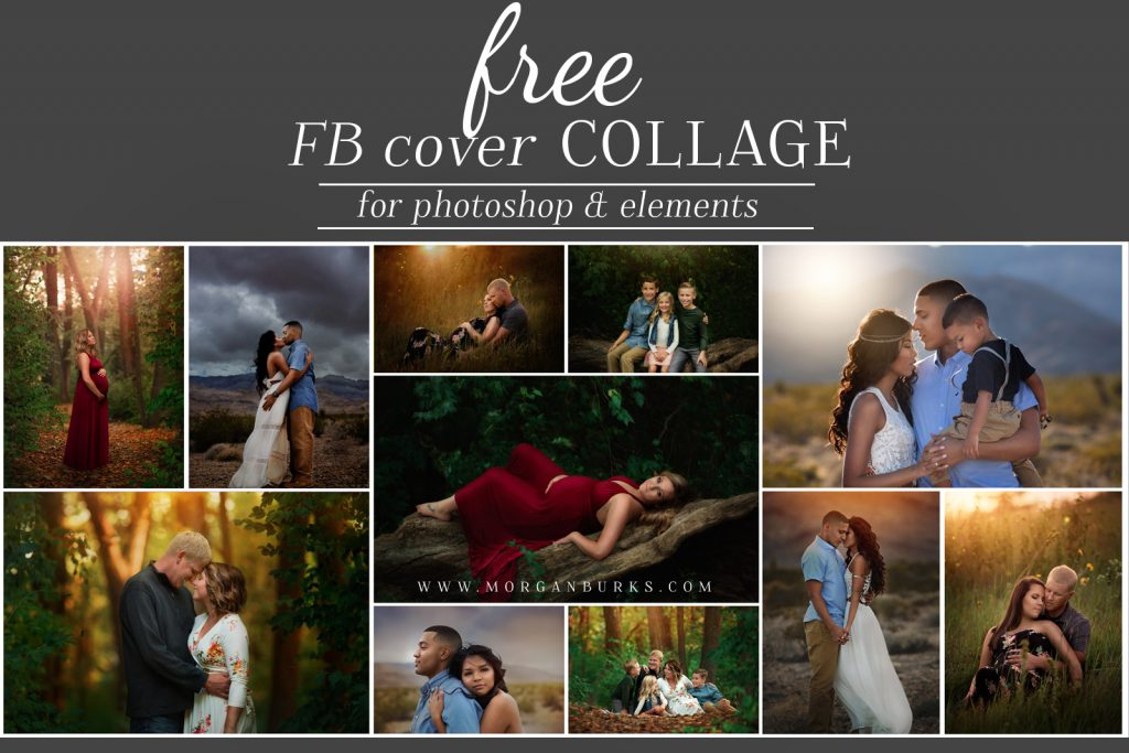 Photographers: Jazz up your Facebook Business Page with this Free Facebook Cover Photo Collage! | Find more tools and free editing products at www.morganburks.com
