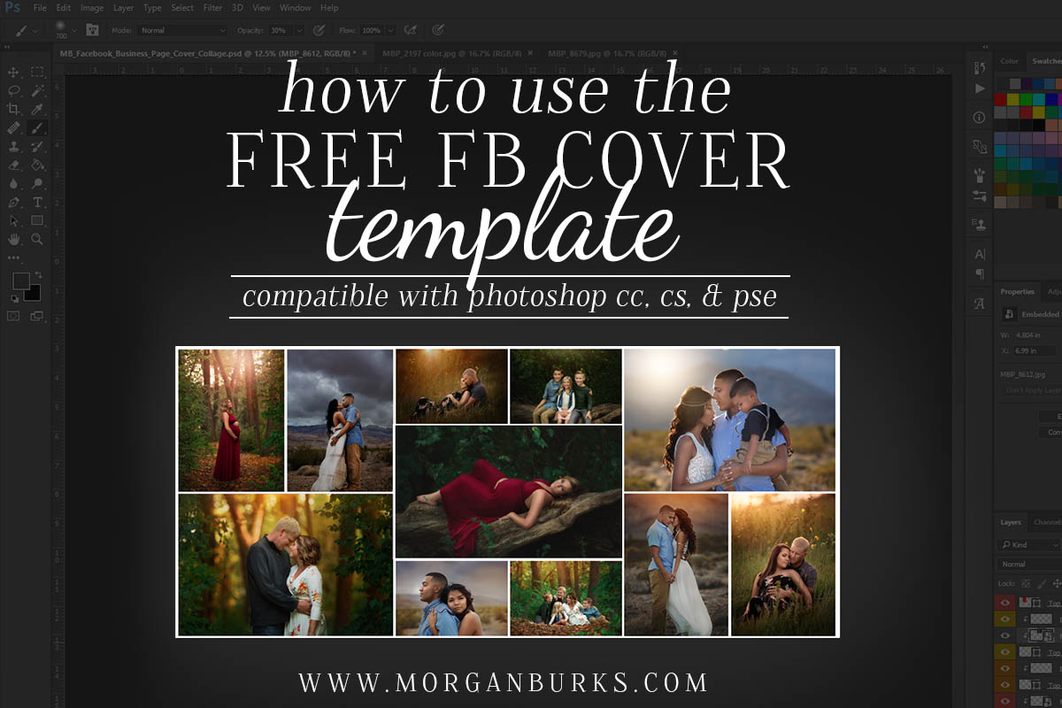 How to use the free fb cover photo template morgan burks accmission Image collections