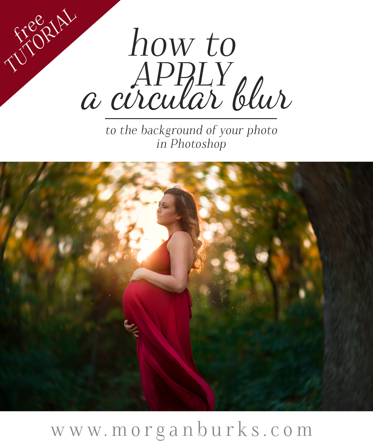 Free video tutorial - How to create a circular background blur effect in Photoshop.