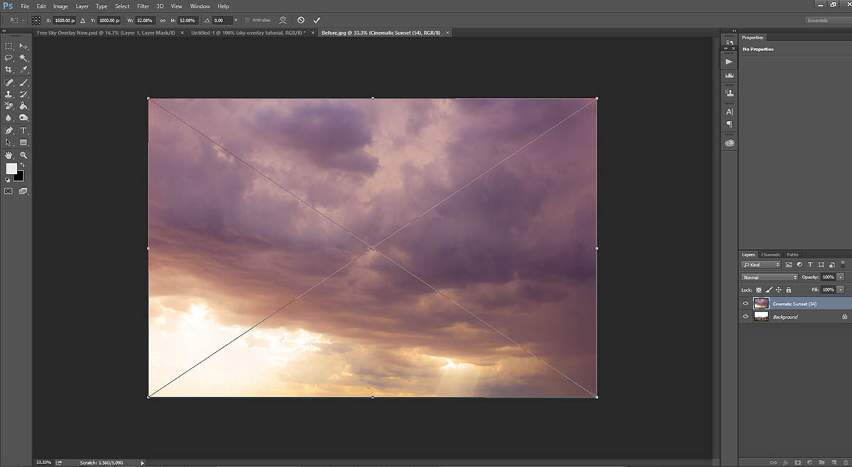 Step-by-step Sky Overlay Tutorial