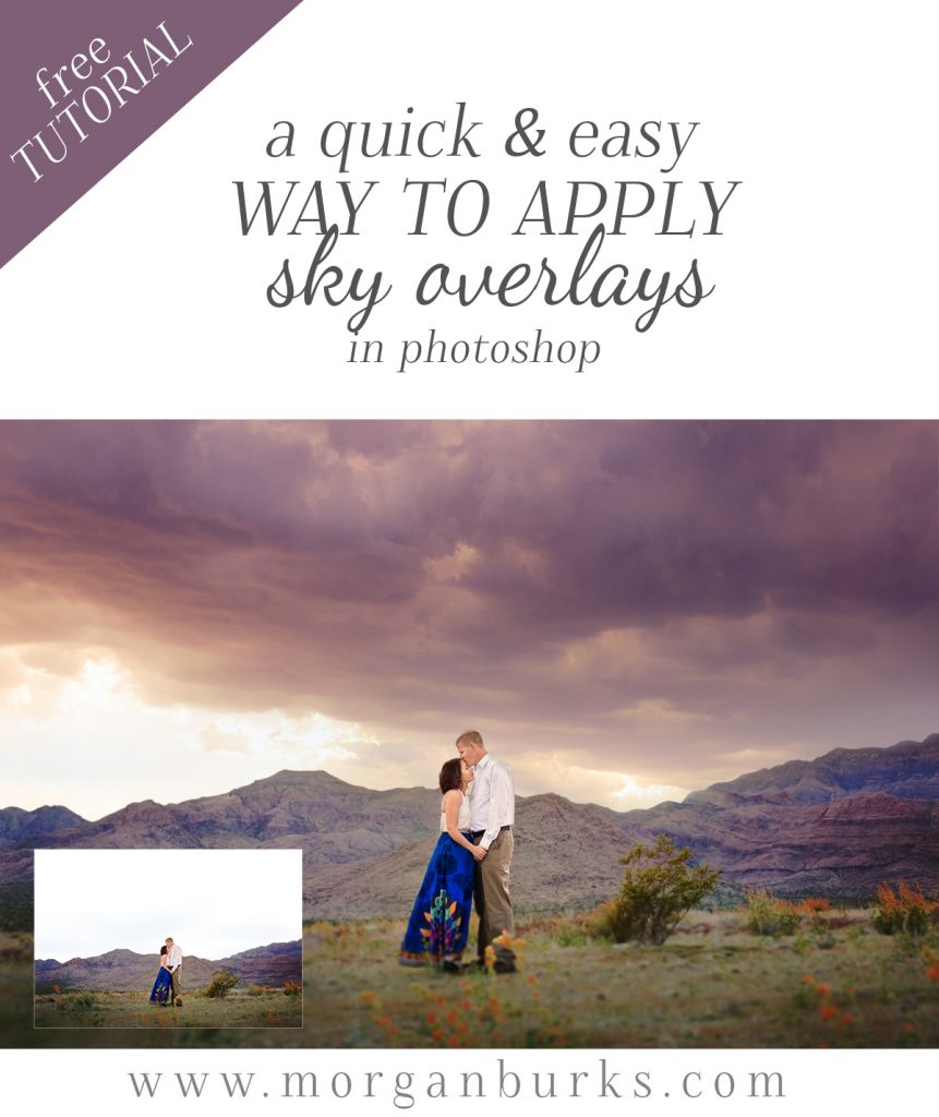 Learn a quicker, easier way to apply sky overlays in Photoshop with this free tutorial! | Find more free tutorials at www.morganburks.com