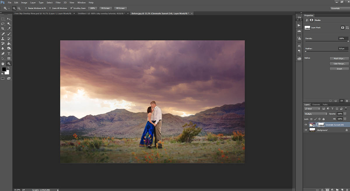 This sky overlay tutorial will show you step by step how to apply Sky Overlays in Photoshop.
