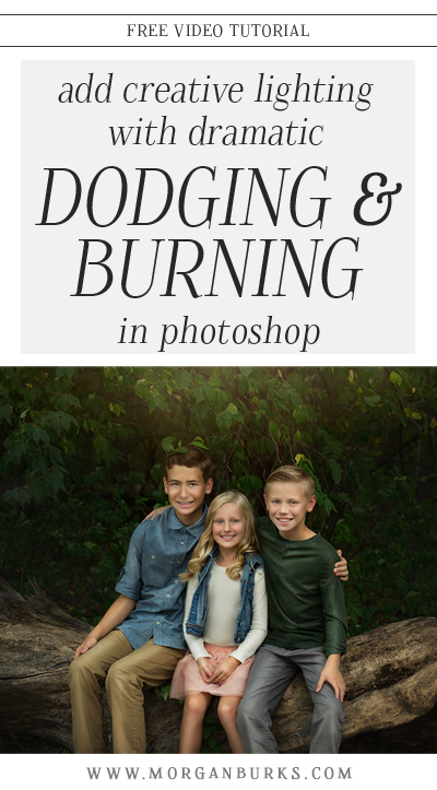 Learn how to create a strong, directional lighting effect on an image using dramatic dodging and burning in Photoshop with this free tutorial. | Find more free tutorials at www.morganburks.com