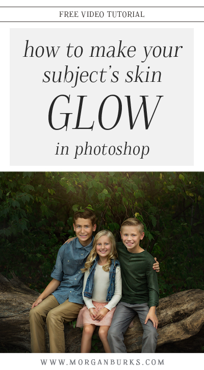 Learn how to make your subject's skin glow in Photoshop using dramatic dodging and burning with this free tutorial. | Find more photography tips and free Photoshop tutorials at www.morganburks.com