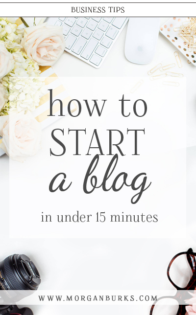 Interested in starting a blog? This free tutorial will show you step-by-step how to start a WordPress blog with Siteground. | Find more photography tips and Photoshop tutorials at www.morganburks.com