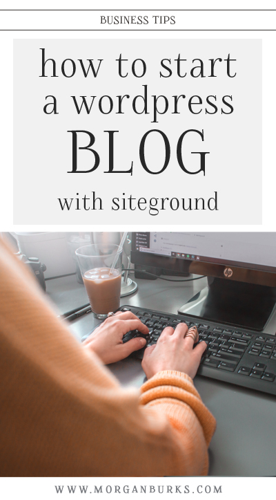 Interested in starting a blog? This free tutorial will show you step-by-step how to start a WordPress blog with Siteground.   Find more photography tips and Photoshop tutorials at www.morganburks.com