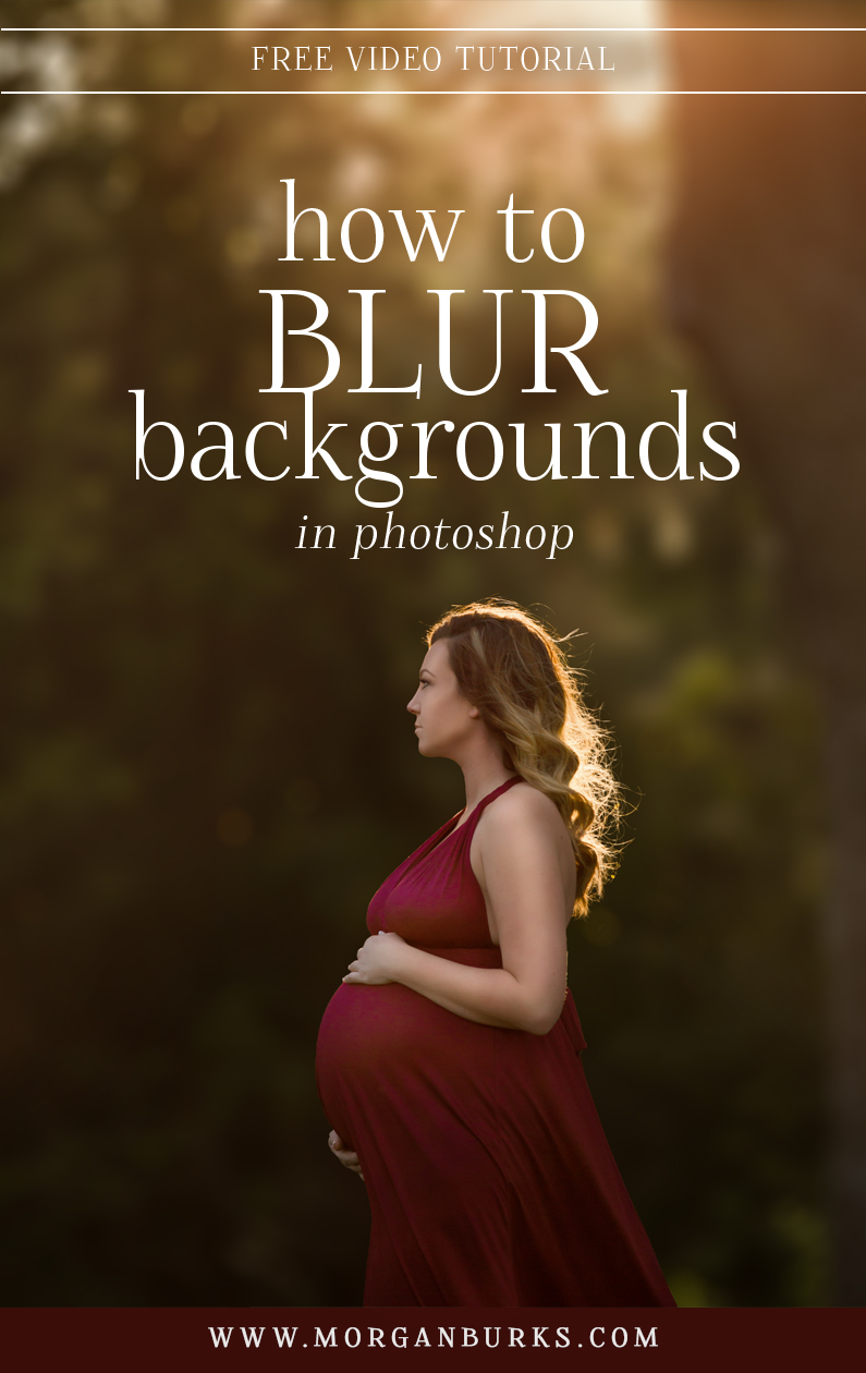This free tutorial will show you how to easily mask around a subject's hair and then create beautifully blurred backgrounds in Photoshop! | Find more photography tips and free tutorials at www.morganburks.com