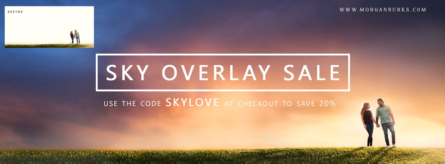 Save 20% on Sky Overlays when use the code SKYLOVE at www.morganburks.com