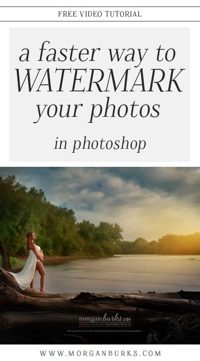 Looking for a faster way to watermark your photos in Photoshop? This video tutorial will show you how to add your logo to the Libraries Panel in Photoshop to make it insanely easy to just drag and drop your logo onto your photo when you've finishing editing! | Find more photography tips & free tutorials at www.morganburks.com