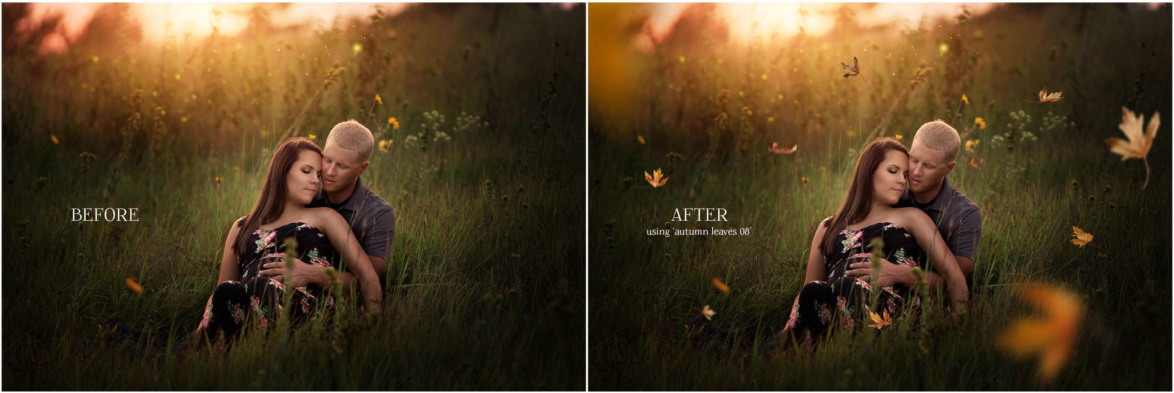 Add the look of gently falling leaves to your images with these gorgeous Autumn Leaf Overlays for Photoshop & Elements!